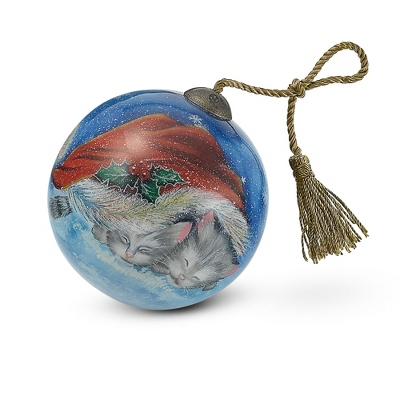 Hand Painted Meowy Christmas Ornament - UPC 825008292277