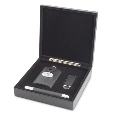 Pebble Grain Cigar Set