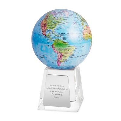 Blue MOVA Globe with Relief Map - $155.00