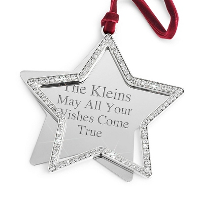 Timeless Elegance Swing Star Ornament