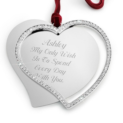 Engraved Heart Ornament