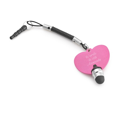 Pink Heart Touch Screen Stylus - Purse Accessories