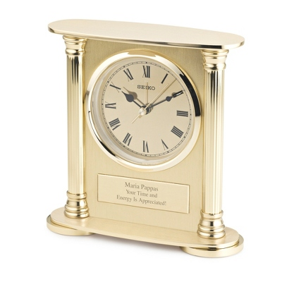 Seiko Brass Desk Clock - UPC 29665088567
