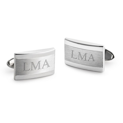 Dolan Bullock Sterling Silver Domed Cuff Links with complimentary Weave Texture Valet Box