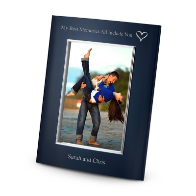 Portrait Classsic Bevel Blue 4x6 Frame - Business Gifts For Him