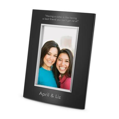 Portrait Classic Bevel Black 4x6 Frame