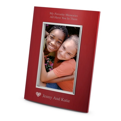 Portrait Classic Bevel Red 4x6 Frame