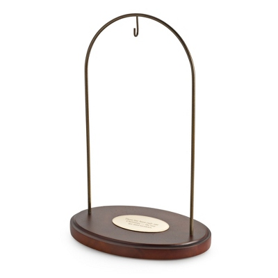 Walnut Finish Large Ornament Stand