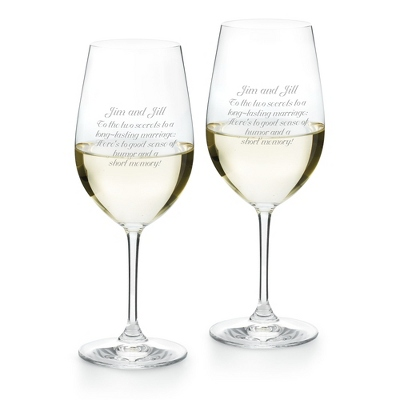 Riedel Vinum Riesling/Zinfandel Set of 2 Glasses - Drinkware for Her