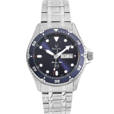 Men's Bulova Marine Star Blue Dial Diver Watch 98C62 - $300.00