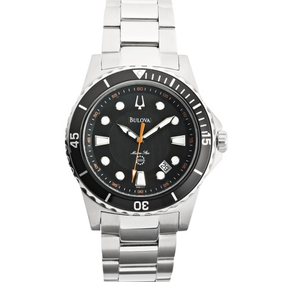 Men's Bulova Marine Star Black Dial Diver Watch 98B131