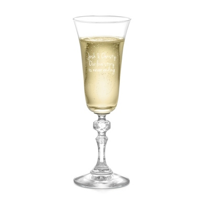 Etched Wedding Champagne Glasses
