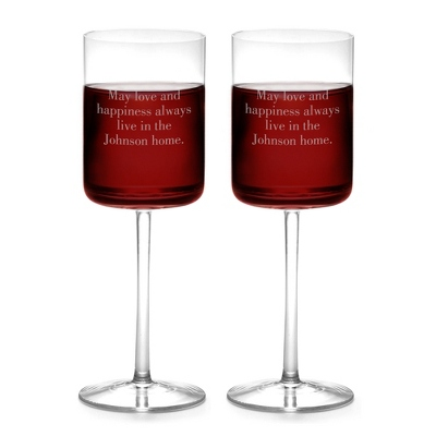 Contempo 15oz Set of 2 Wine Glasses - Drinkware & Barware