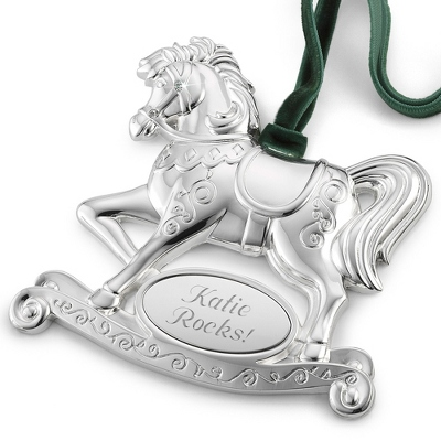 Silver Personalized Baby Ornament