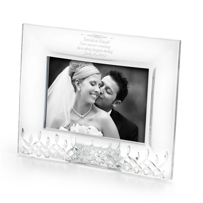Engraved Glass Crystal Wedding Messages