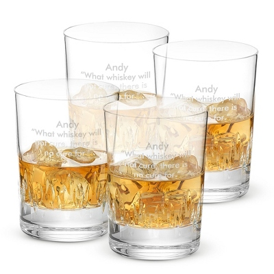 Vera Wang by Wedgwood Duchesse Double Old Fashioned Set - Cut Crystal Gifts