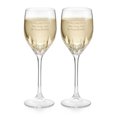 Vera Wang by Wedgwood Duchesse White Wine Glasses - Cut Crystal Gifts