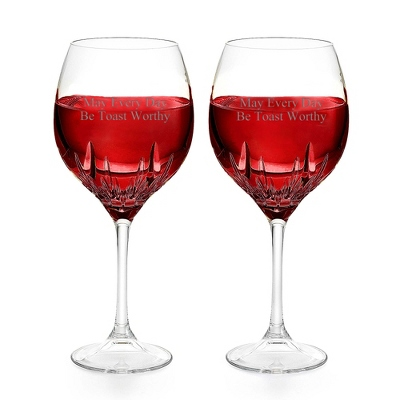 Vera Wang by Wedgwood Duchesse Red Wine Goblets - Cut Crystal Gifts