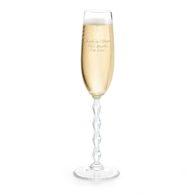 Personalized Champagne Flutes for Wedding Gift - 4 products