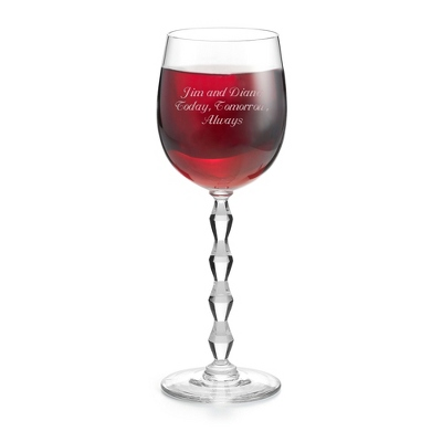 Personalized Crystal Red Wine Glasses - 4 products