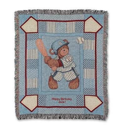 Baseball Bear Throw - $40.00