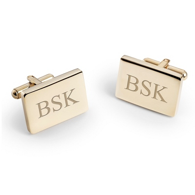 Engraved Gold Cufflinks for Men