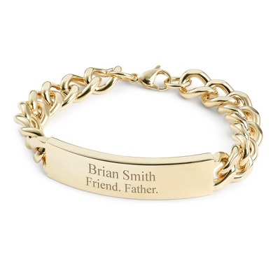 Gold Personalized Id Bracelets for Men - 2 products