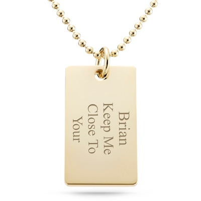 Classically Gold Dog Tag - Horizontal