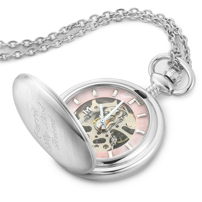 Ladies Skeleton Pendant Watch