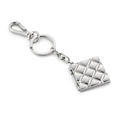 Quilted Locket Key Chain