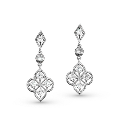 Nouveau Earrings - Bridal Jewelry