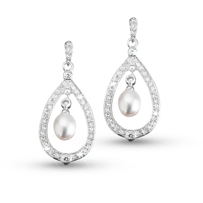 Freshwater Pearl Drop Earrings - Bridal Jewelry