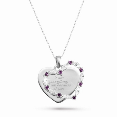 Custom Marquise Heart Necklace