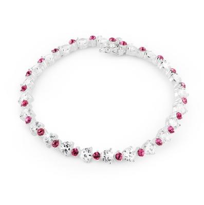 Custom Heart Tennis Bracelet - Clearance Items for Her