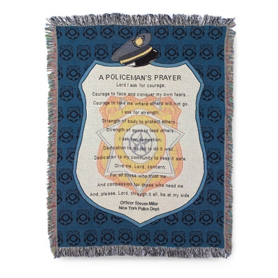 Policeman's Prayer Throw - Family & Friends Throws