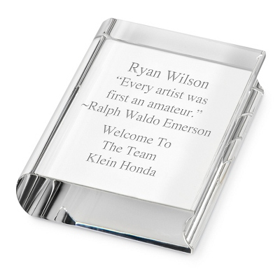 Personalized Paperweight Book