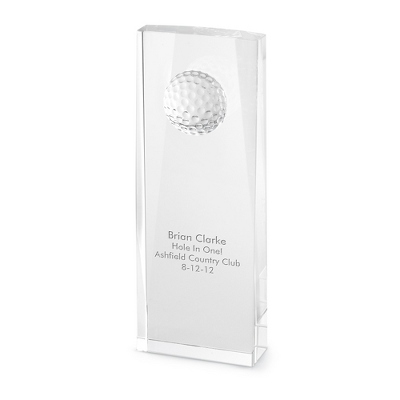 Crystal Golf Ball Award - Awards & Plaques