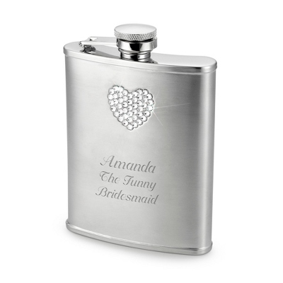 Heart Bling Flask