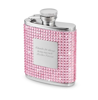 2.5 oz. Petite Pink Bling Flask - Drinkware for Her