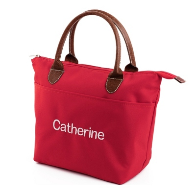 Red Lunch Tote