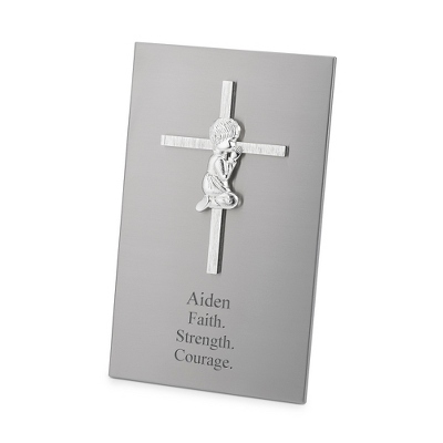 Boy Cross Plaque