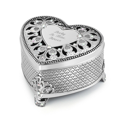 Anastasia Heart Keepsake Box - Personalized