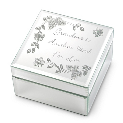 Grandma Mirrored Keepsake Box - Jewelry Storage & Keepsake Boxes