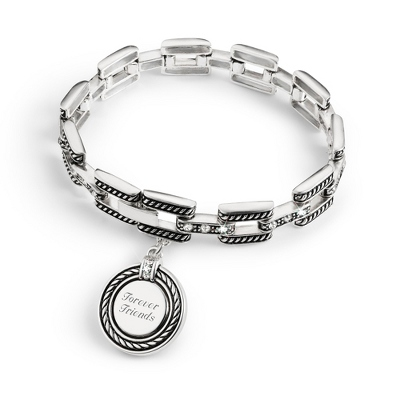 Expressions Square Link Bracelet with complimentary Filigree Keepsake Box - Fashion Bracelets & Bangles