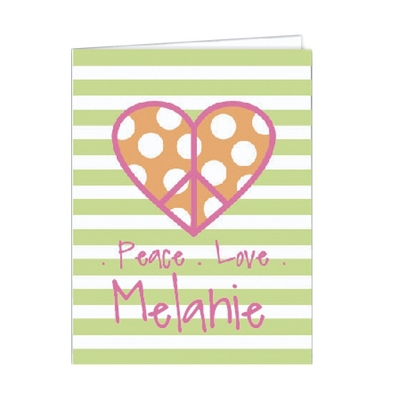 Peace Love Set of 2 Folders - Children's School Gifts