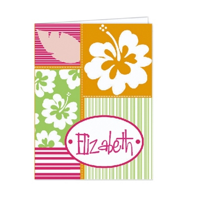 Hula Girl Set of 2 Folders
