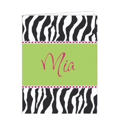 Zebra Set of 2 Folders - Children's School Gifts