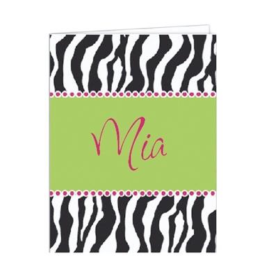 Zebra Set of 2 Folders