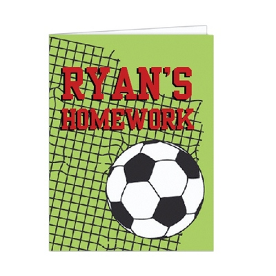 Soccer Set of 2 Folders - Children's School Gifts