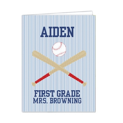 Baseball Set of 2 Folders - Children's School Gifts
